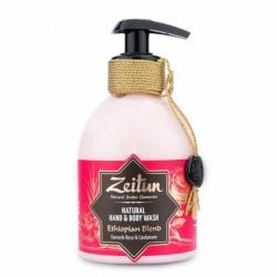 """Жидкое крем-мыло для рук и тела """"Эфиопский купаж"""": дамасская роза и кардамон"""