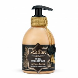 """Жидкое крем-мыло для рук и тела """"Африканский купаж"""": масло чёрного тмина, лайм и розмарин"""