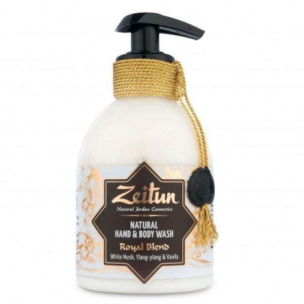 """Жидкое крем - мыло для рук и тела """"Королевский купаж"""": белый мускус, иланг-иланг, ваниль"""
