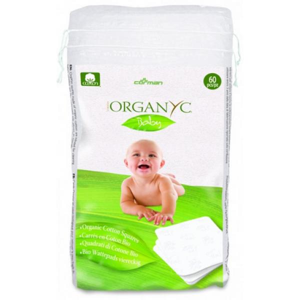Детские ватные подушечки из органического хлопка, 60 шт