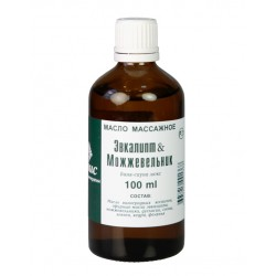 Массажное масло «эвкалипт-можжевельник», 100 мл