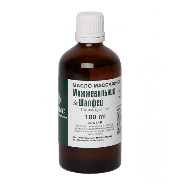 Массажное масло «можжевельник-шалфей», 100 мл