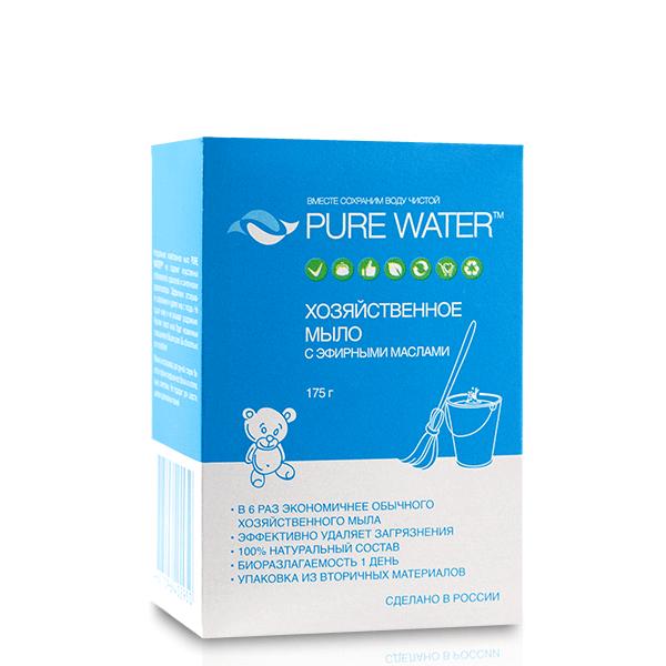 Хозяйственное мыло Pure Water с эфирными маслами 175 гр