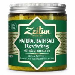 Тонизирующая соль для ванн, с маслами бергамота, мандарина, мяты