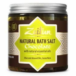 Шоколадная соль для ванн, с маслом плодов какао и ванилью