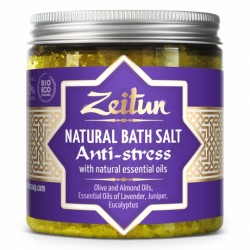 Антистрессовая соль для ванн, с маслами эвкалипта, лаванды и можевельника
