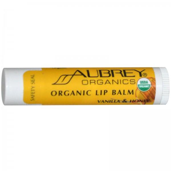 Натуральный бальзам для губ, ваниль и мед, 0.15 унций (4.25 г)